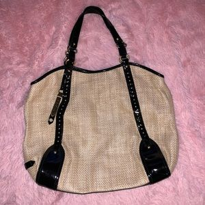 Cole Haan- beautiful straw and leather purse